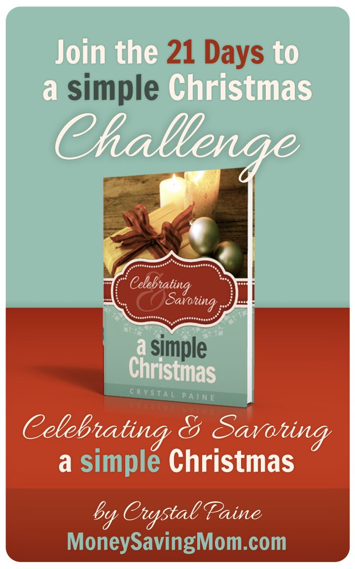 It's December! And I am determined to have a peaceful, simple, memorable month. Not one filled with stress, busyness, and exhaustion. Join me in the 21 Days to a Simple Christmas Challenge!