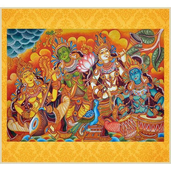 Music Troupe Kerala Murals Painting