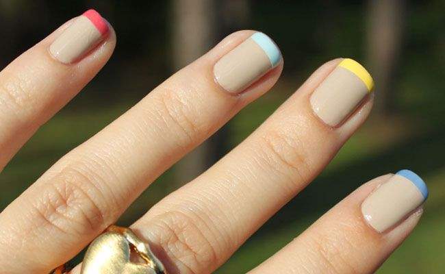 Abstract : 30 Cute Summer Nail Designs - Cute Easy And Simple Colorful Nail Designs 2013