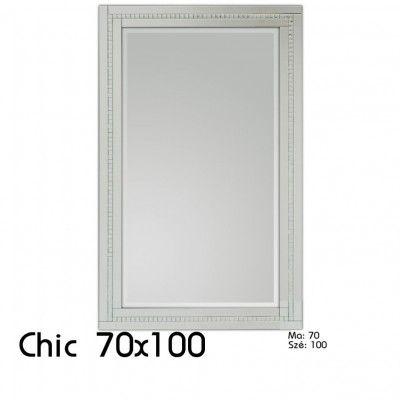 Chic Fali Dekor Tükör 70x100 Kristályos