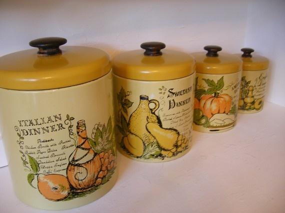 vintage canister set kitchen ideas vintage