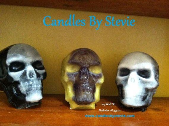 3LB Teschio  Skull candela  Sugar Skull  Sugar di CandlesByStevie
