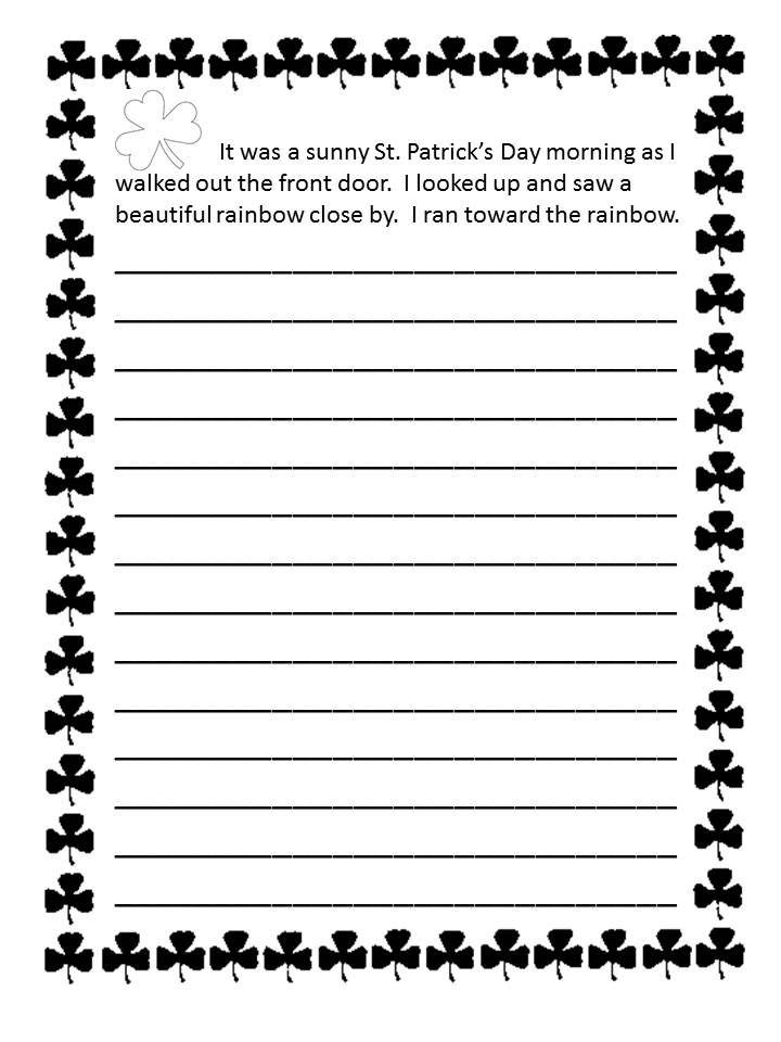 st valentine's day story worksheet