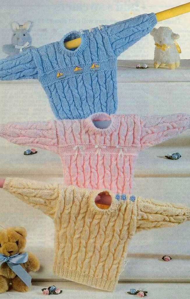 Child S Vintage Cabled Sweater Free Knitting Pattern Knitting
