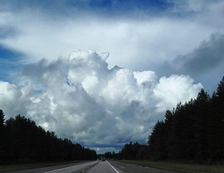 Finnish highway - Finnish nature