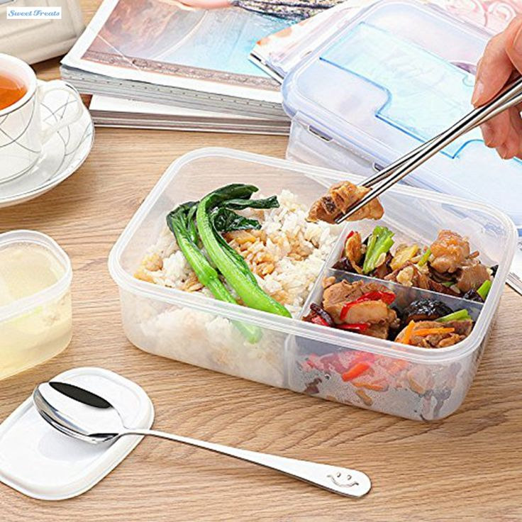 Sweettreats Modern Ecofriendly Outdoor Portable Microwave LunchBox with Soup Bowl Food Containers 1000mL
