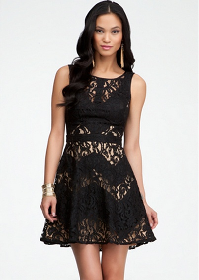 Lace & Contrast Zigzag Dress #bebe #summer #musthaves #bebeindonesia