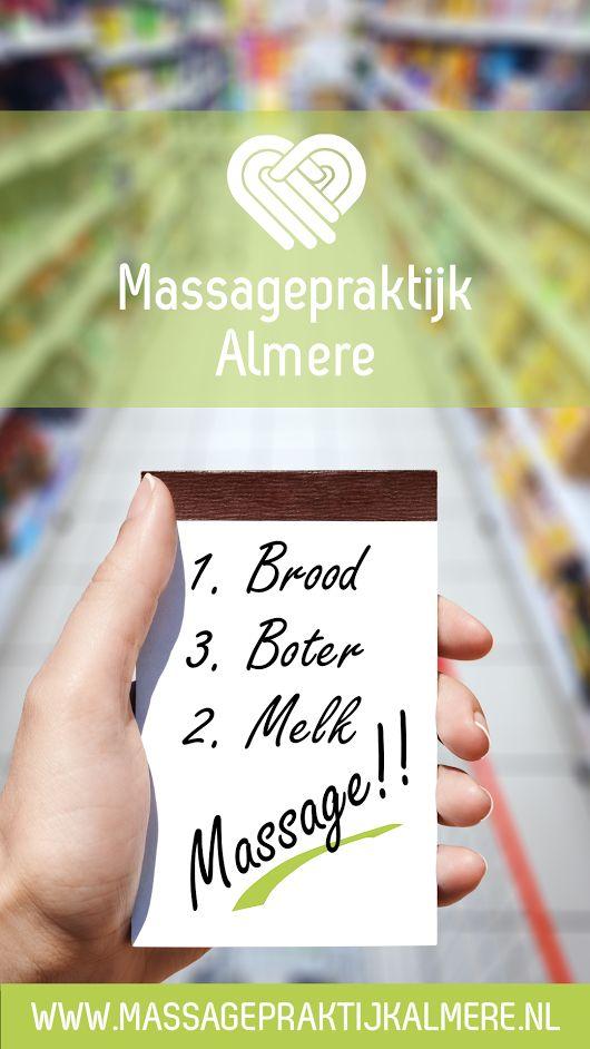 Wat mag je niet vergeten om op je boodschappenlijstje te zetten www.massagepraktijkalmere.nl