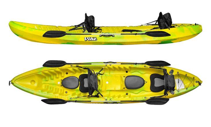 Vibe kayaks skipjack 120t tandem kayak package fmb for Vibe fishing kayak