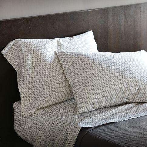 Organic Ikat-Stripe Sheet SetIkatstrip Sheet, Organic Cotton, Ikat Stripes, Organic Ikat Strips, Sheet Sets, Beds Sheet, Ikat Strips Sheet, West Elm, Organic Ikatstrip