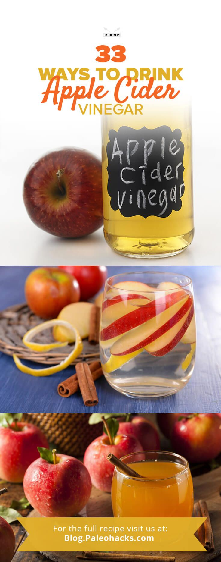Apple cider vinegar is one of the best superfoods you can add to your diet. This powerful vinegar is a fermented liquid that offers many health benefits, including detoxification, the reduction of inflammation, and digestive relief. Get the recipe collection here: http://paleo.co/ACVdrinks