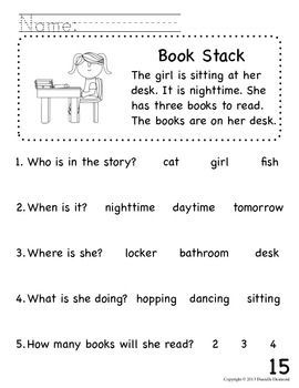 Printables Early Reading Worksheets 1000 images about reading comprehension on pinterest first beginning readers packet for early education or special teacherspayteachers com