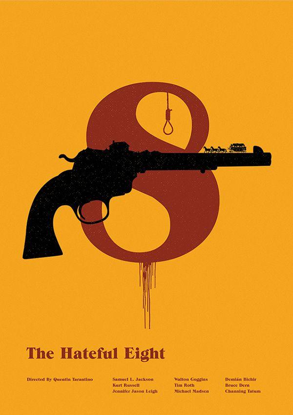 The Hateful Eight - minimal movie poster - Matt Needle