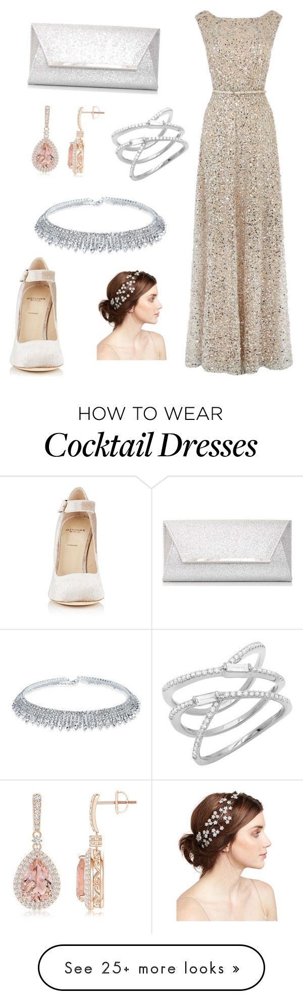 """kitty creations"" by willow-bilbrey on Polyvore featuring Alexander White, Dorothy Perkins and Jennifer Behr"