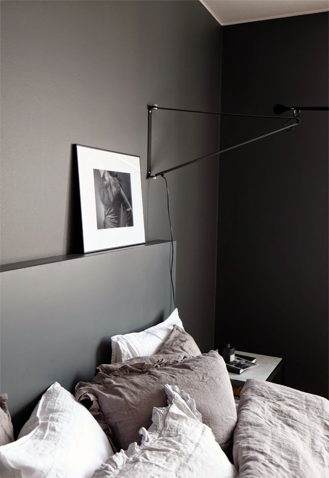 Murs chambre Gris anthracite | charcoal Grey walls