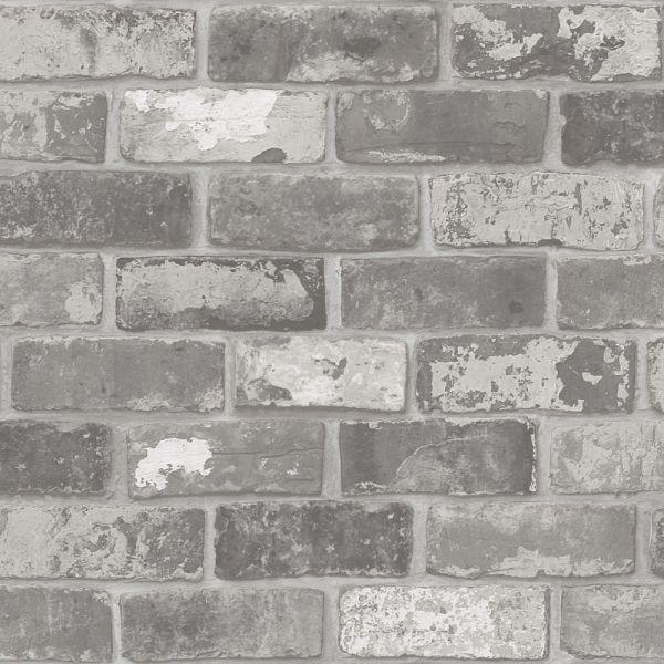 Fräck och naturtrogen tegeltapet från kollektionen Level 2234-03. Klicka för att se fler tuffa tapeter för ditt hem!