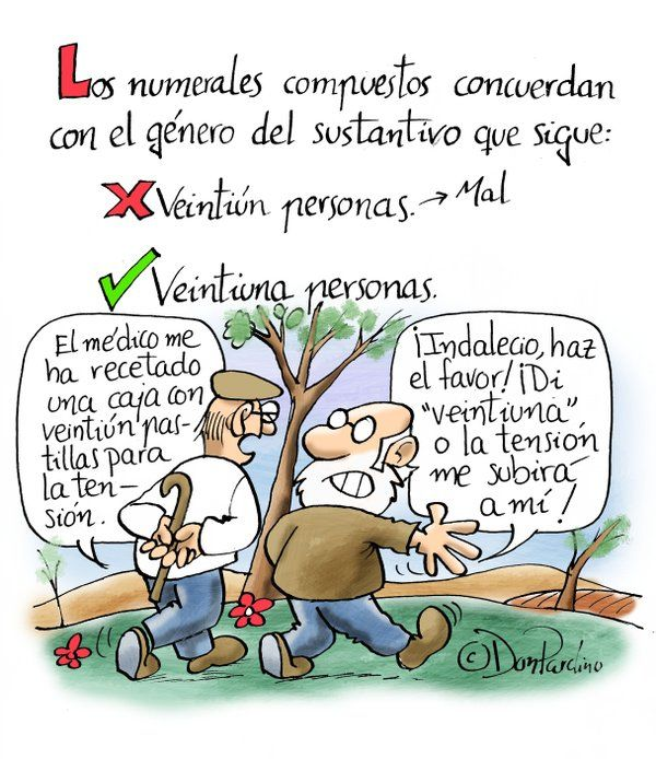 Los #numerales compuestos concuerdan by @DonPardino