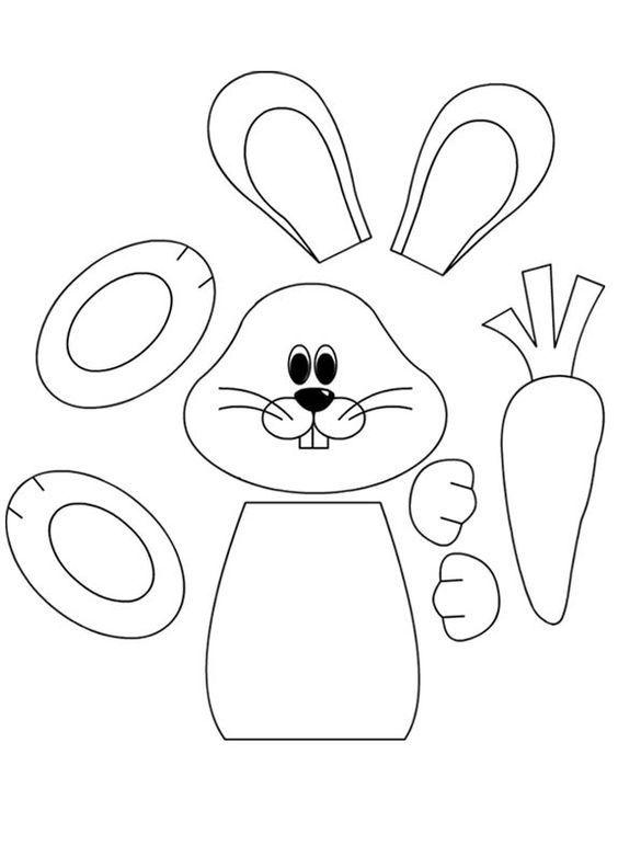 10 ingyenes, húsvéti nyuszis papír sablon
