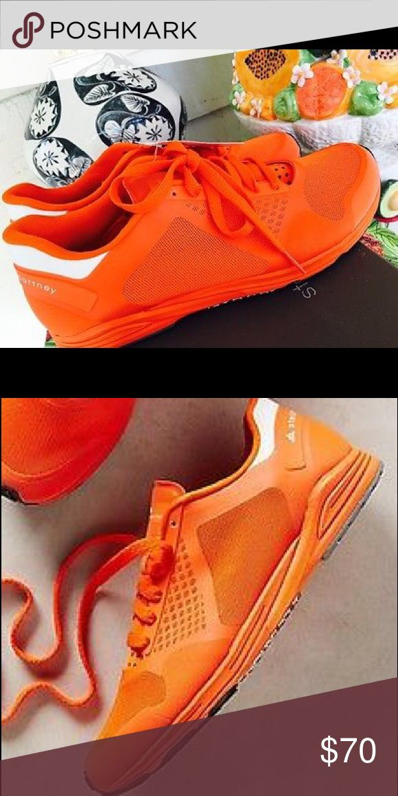 Adidas by Stella McCartney Sneakers NEW Anthropologie Adidas by Stella McCartney VALENCIA orange sneakers-size 7-nwot Adidas Shoes Sneakers