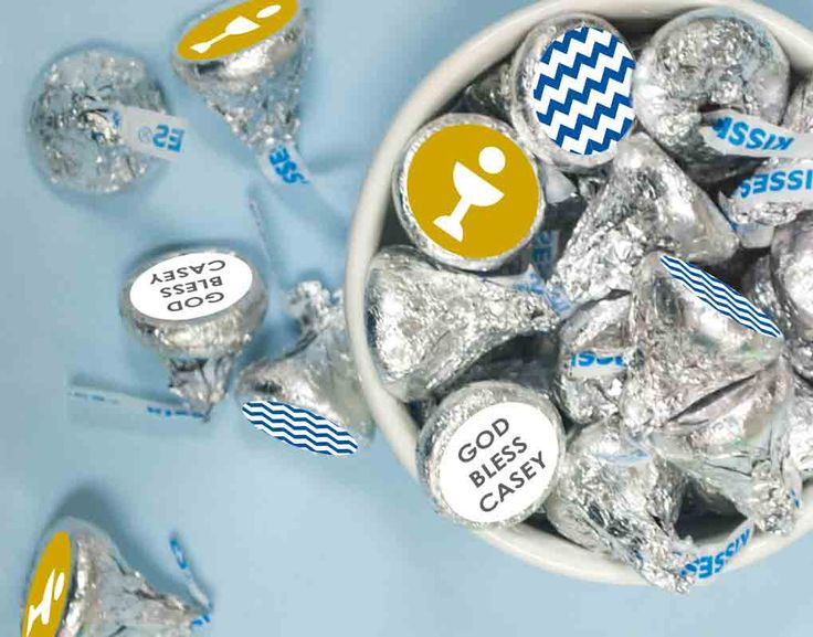 First Communion Stickers for KISSES Candy: Great idea for Boy First Communion Party