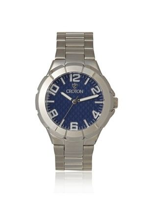 76% OFF Croton Men's CROTON-CN207382RHBL Blue Textured Dial Watch