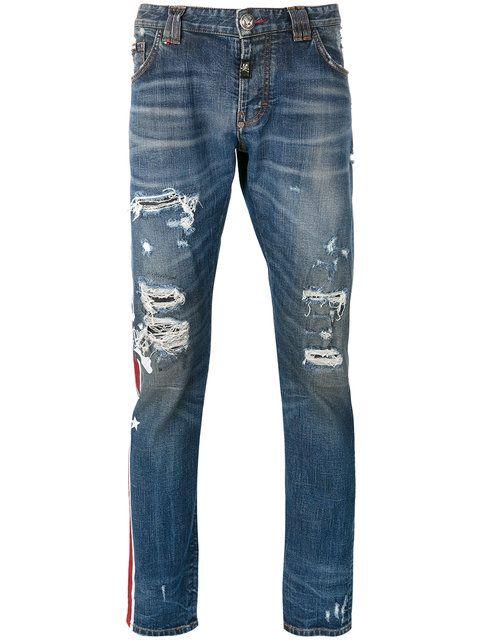 PHILIPP PLEIN Distressed Jeans. #philippplein #cloth #jeans