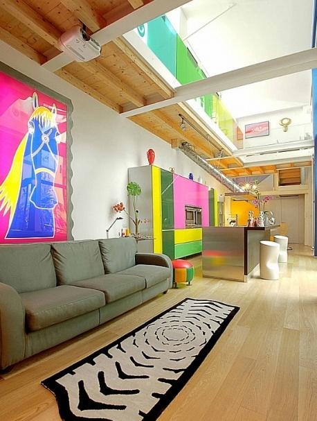Usporiadanie kuchyne, obývacia izba - Wonderloft - moderný