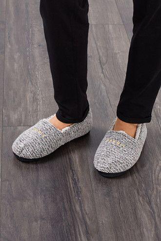 Esprit / Zapatillas de casa con forro de borreguito