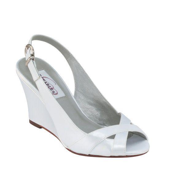 Wedding Shoes Wedge 3 Inch Heel Wedge