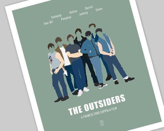 Ralph Macchio Hinton S.E Minimalist Movie Poster Matt Dillon The Outsiders