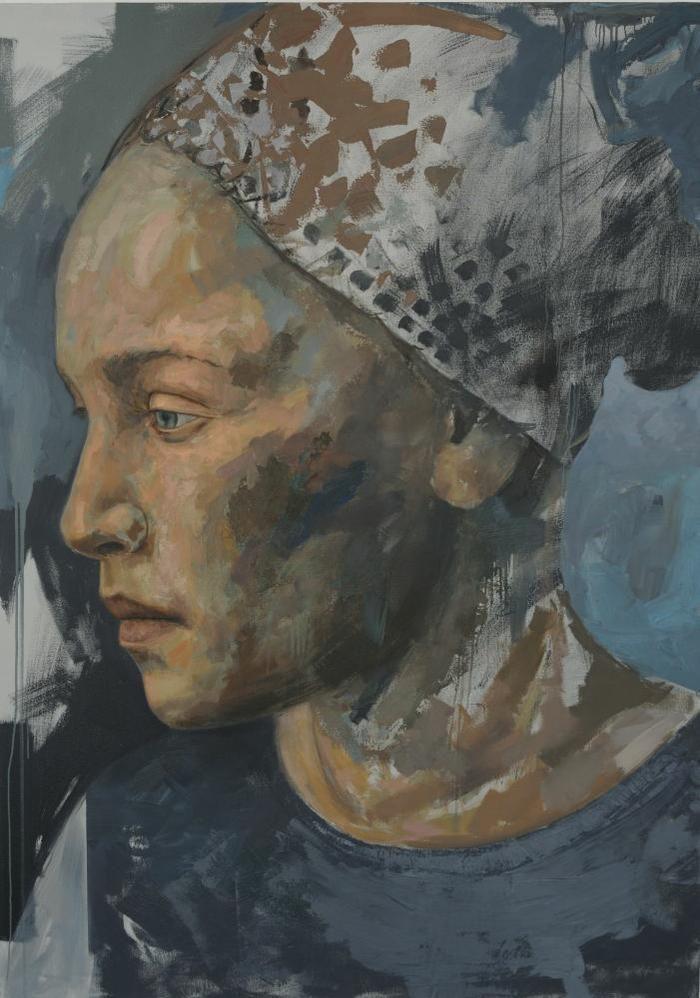 Residue series 4, 230cm X 165cm, Oil on Canvas