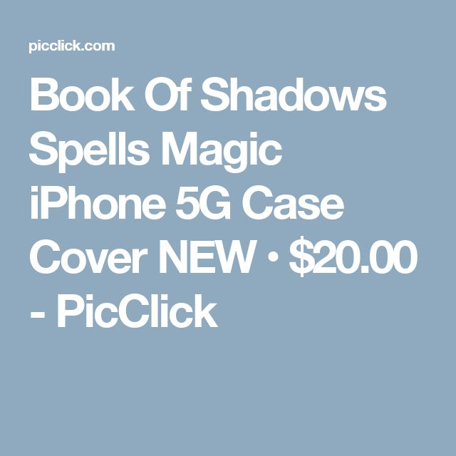 Book Of Shadows Spells Magic iPhone 5G Case Cover NEW • $20.00 - PicClick