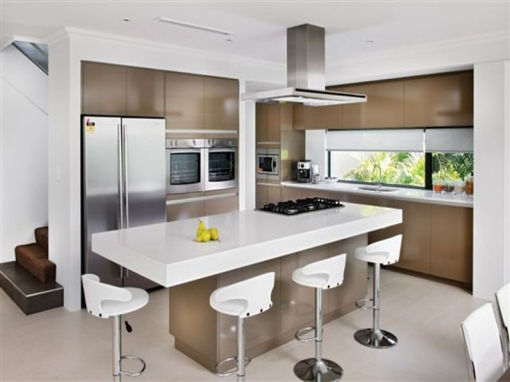 Kitchen design ideas photo gallery island kitchen kitchen photos and kitchen design - Modern kitchen with island ...