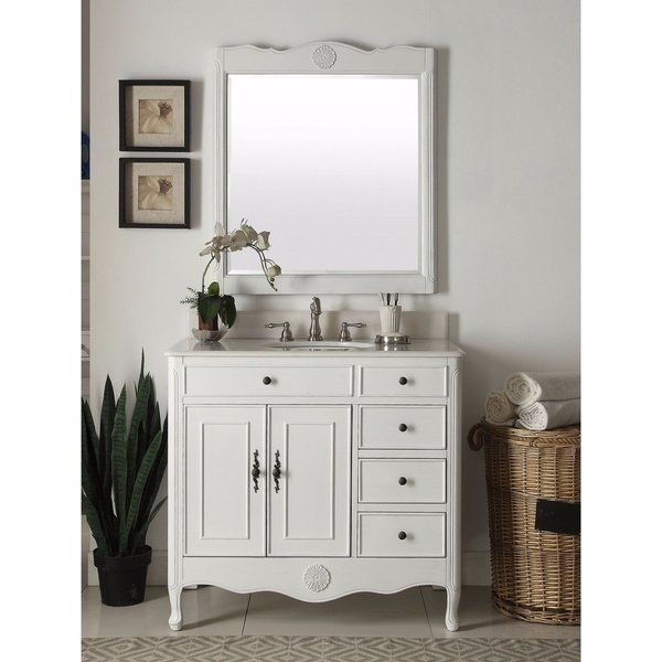 Best Modetti Provence 38 Inch Single Sink Bathroom Vanity With 400 x 300