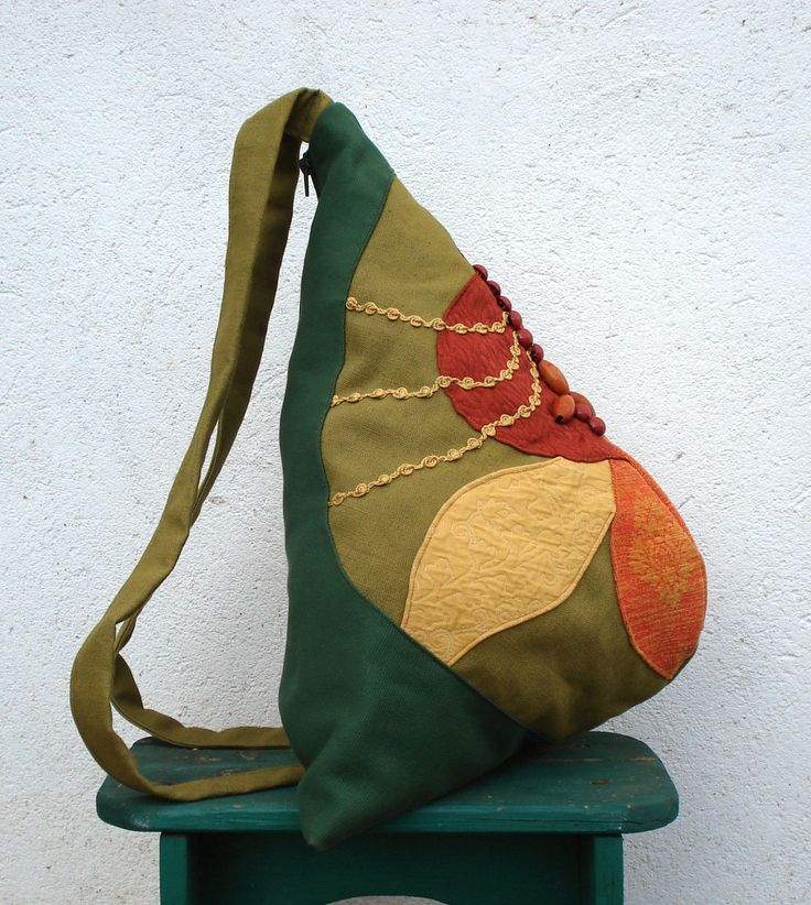 Soft and colorful cotton backpack, with trimming and seeds.Made in Italy by StrofediStoffa su Etsy