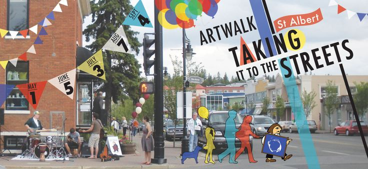 Join us tomorrow from 6 – 9 pm for the first ArtWalk of the season. Discover St Albert as an art destination, a place to enjoy, view and buy art to suit all tastes and budgets.  Come and see returning participants and explore new venues as you stroll through the Perron District and discover vibrant artworks.  New this year: street performers, musicians & food trucks