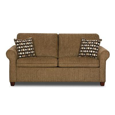 Simmons Upholstery Santa Fe Full Hide A Bed Sleeper Loveseat & Reviews   Wayfair