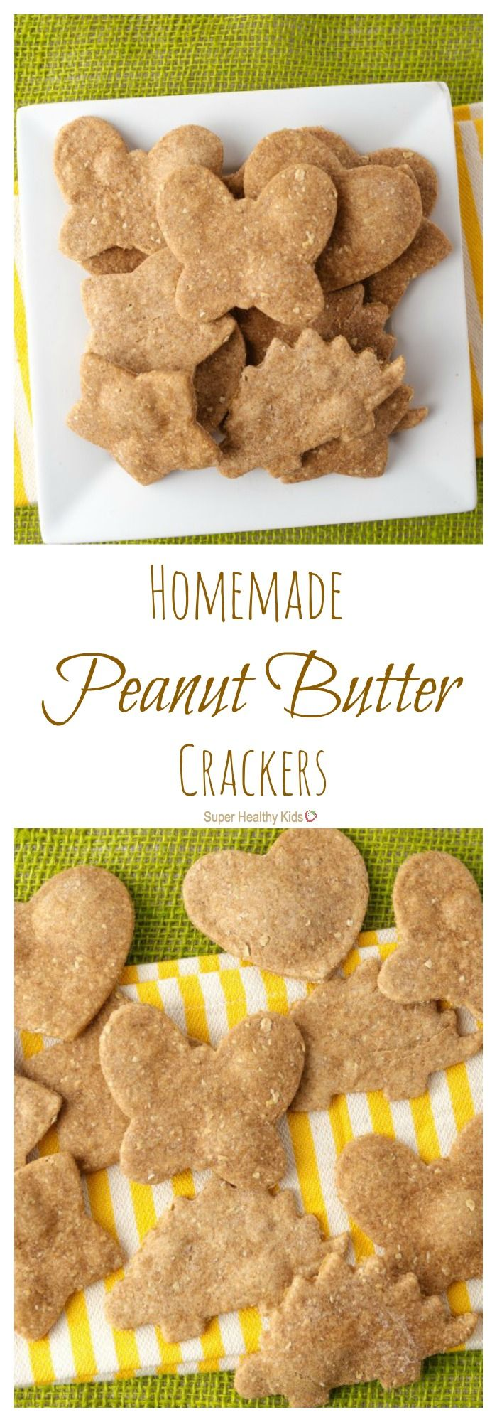 Homemade Peanut Butter Crackers. Crunchy snacking, anywhere! http://www.superhealthykids.com/homemade-peanut-butter-crackers/