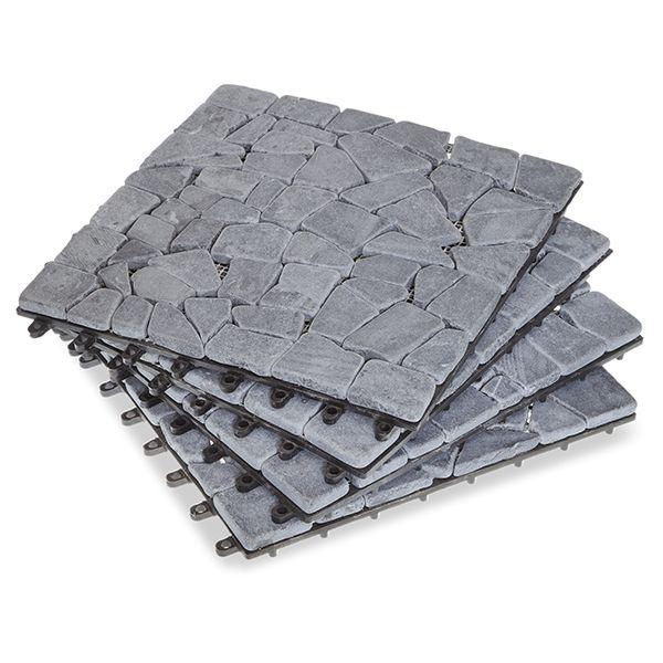 Split Gray Stone Deck Tiles - Box of 10
