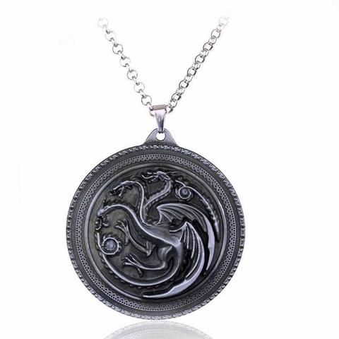 "Game of Thrones House Necklaces - What is your favourite House? Do you follow the King in the North, or do you follow one of the dozen ""rightful heirs""? The cunning Lannisters or the hot Targaryens? (hot like, you know, dragons. Fire and stuff.)Our Game of Thrones collection is almost as cool as the Wall - a must-have for all Game of Thrones fans! Get some gifts for your GoT-loving friends too while you are at it!"