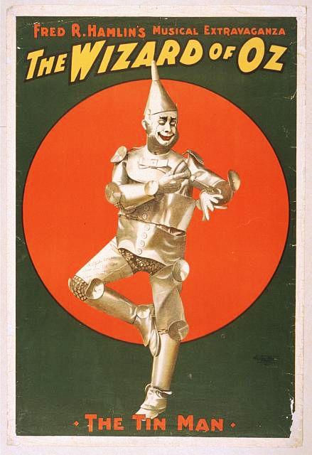 cartazes clássicos, download gratuito, design gráfico, filmes, gravuras retro, teatro, vintage, cartazes vintage, O Mágico de Oz, extravagância musical de Fred R. Hamlin - Poster Theater Vintage
