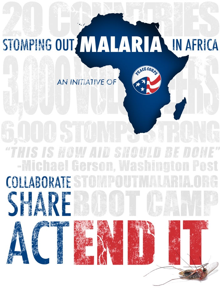 Stomping Out Malaria: Collaborate. Share. Act. End it.