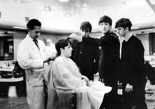 Paul didn't want to get his haircut alone.