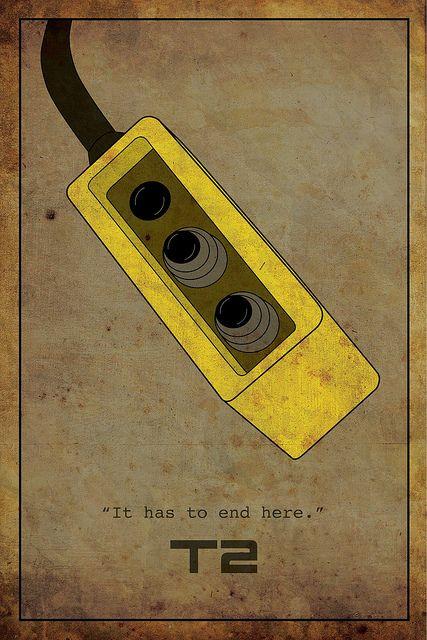 #9. Terminator 2 (alternative movie poster v.2) by The Maclac Show, via Flickr...tears*
