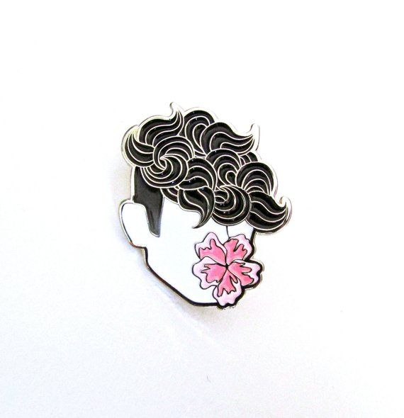 FLOWER BOY Soft Enamel Pin – tommyboydesign {cool enamel lapel pin badge flower boy illustration art jewelry backpack aesthetic tumblr}