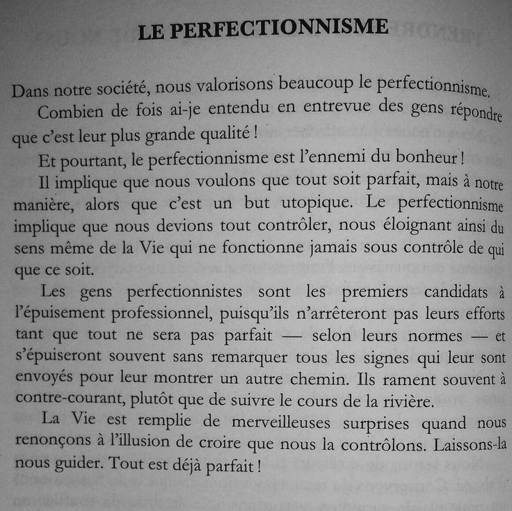Le perfectionnisme