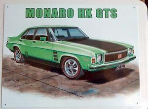 Holden HX Monaro GTS - Tin Metal Sign