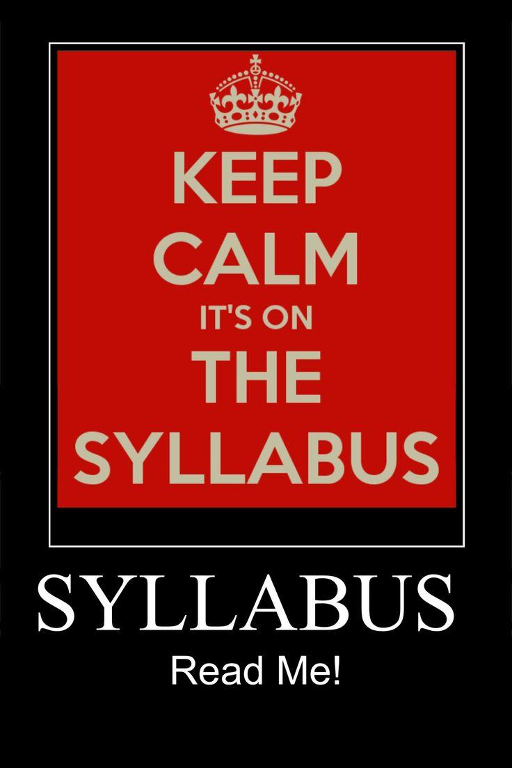 Syllabus | Funny | Pinterest | Keep calm
