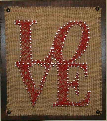 Show Off Your LOVE! String Art is hip and #booZhee fashionable. www.booZhee.com #art #hip #fun #love