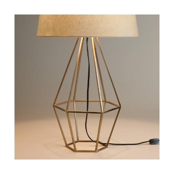Cost Plus World Market Brass Diamond Table Lamp Base ($60) ❤ liked on Polyvore featuring home, lighting, table lamps, polished brass table lamp, mid century modern lamp, midcentury lamp, mid century lighting and polished brass lighting